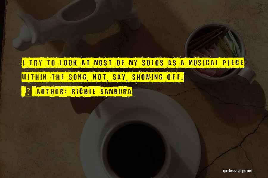 Look Within Quotes By Richie Sambora