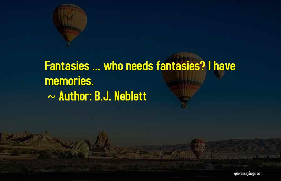 Looking Back Love Quotes By B.J. Neblett