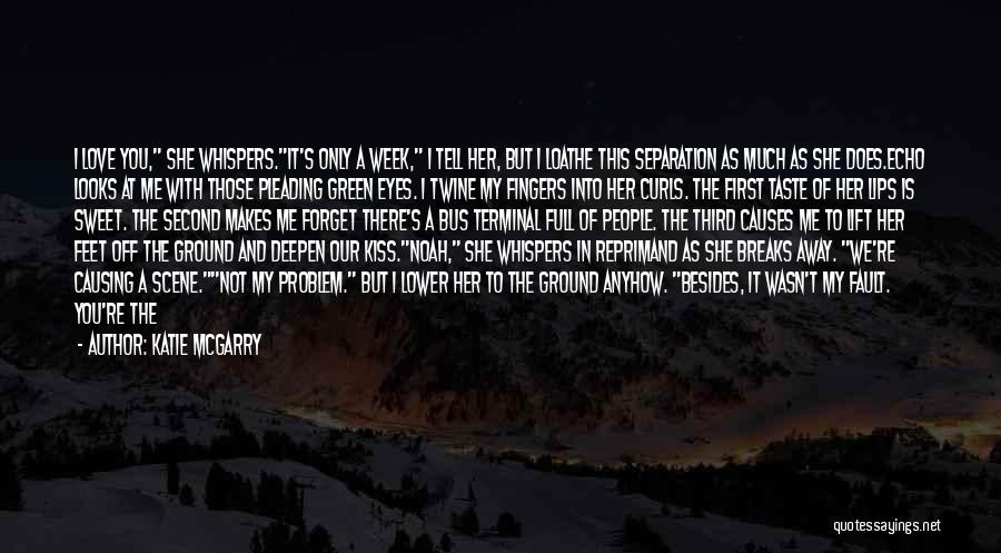 Looking Back Love Quotes By Katie McGarry