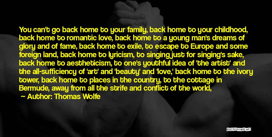 Looking Back Love Quotes By Thomas Wolfe