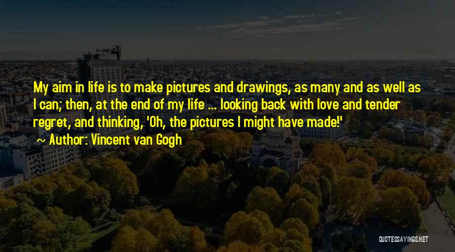 Looking Back Love Quotes By Vincent Van Gogh