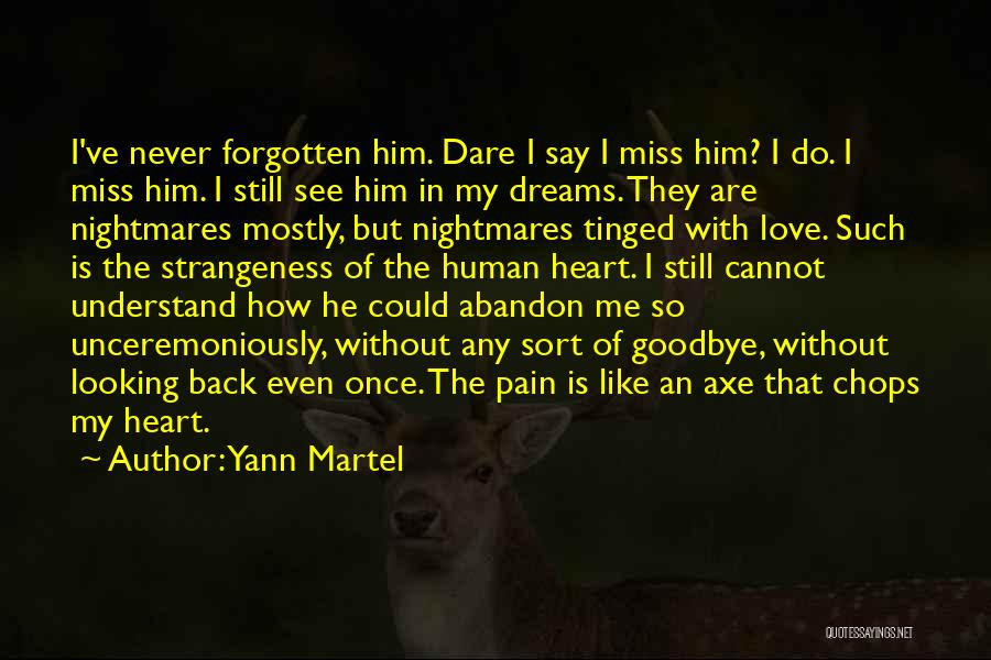 Looking Back Love Quotes By Yann Martel
