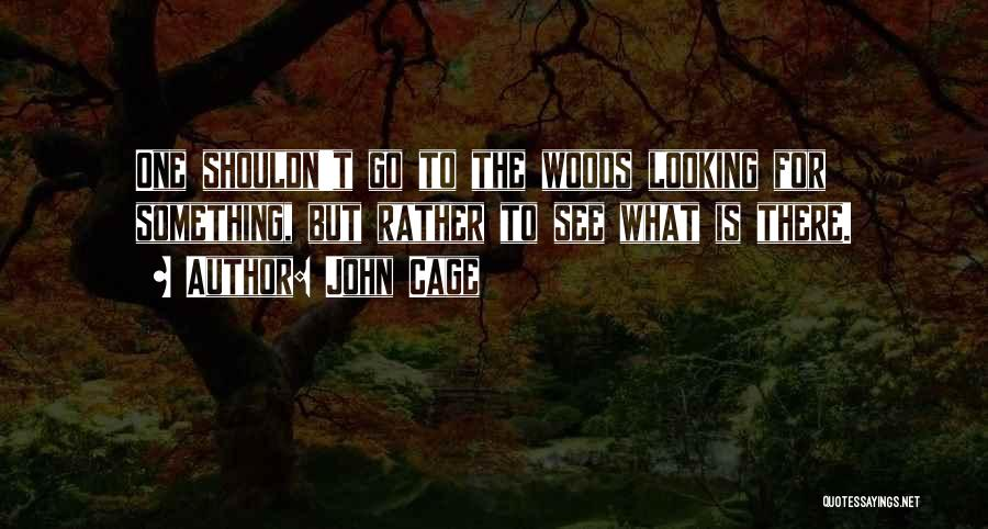 Looking For Something Quotes By John Cage