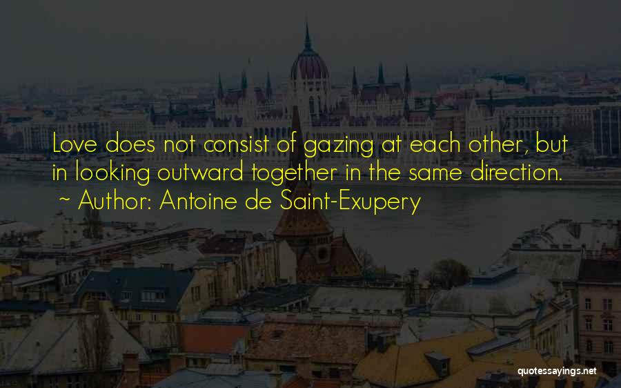 Looking In The Same Direction Quotes By Antoine De Saint-Exupery