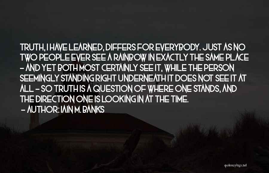 Looking In The Same Direction Quotes By Iain M. Banks
