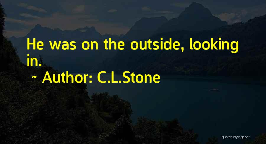 Looking Outside Quotes By C.L.Stone