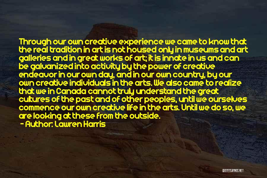 Looking Outside Quotes By Lawren Harris