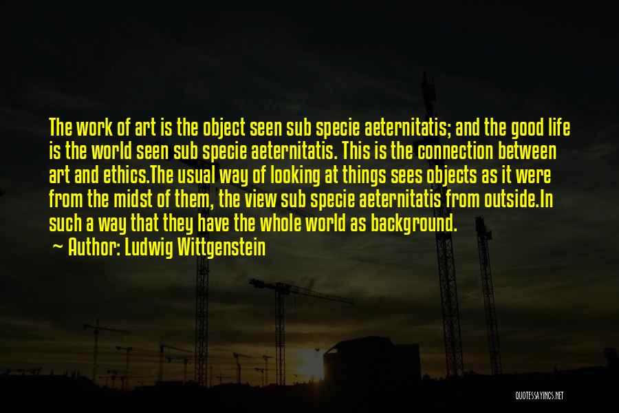 Looking Outside Quotes By Ludwig Wittgenstein