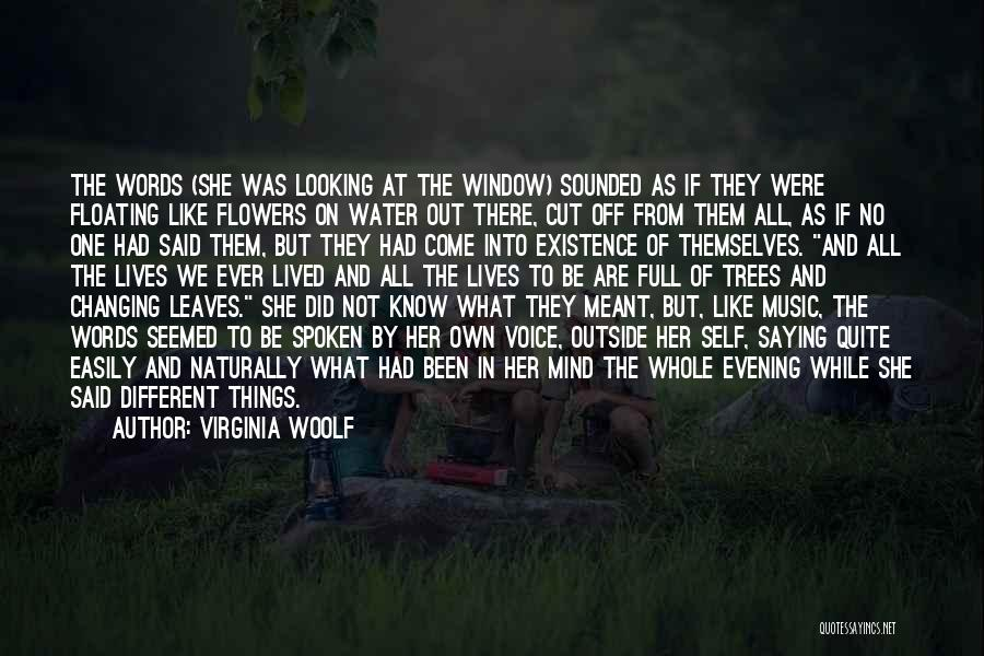 Looking Outside Quotes By Virginia Woolf