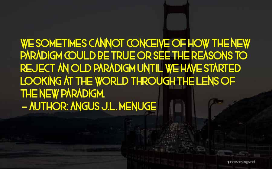 Looking Through A Lens Quotes By Angus J.L. Menuge