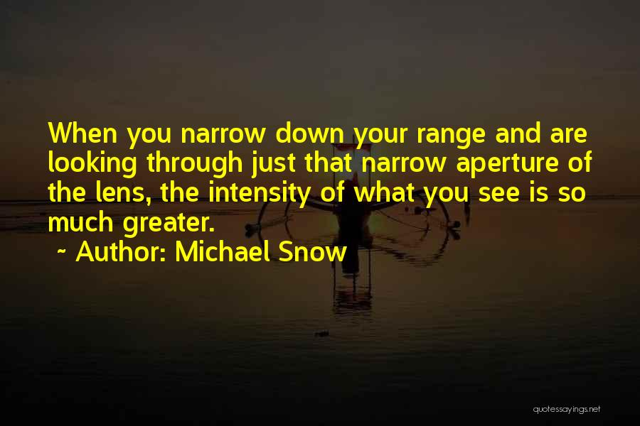 Looking Through A Lens Quotes By Michael Snow
