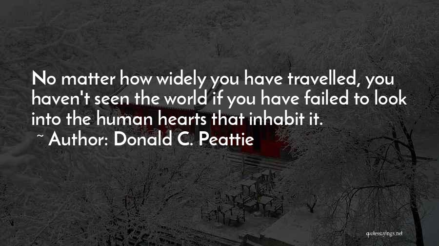 Looks Matter Quotes By Donald C. Peattie
