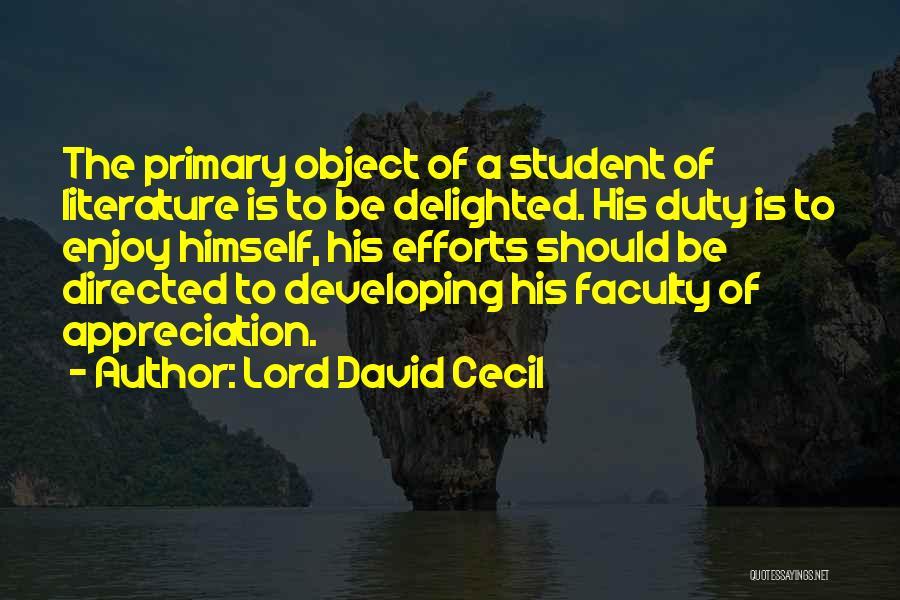 Lord David Cecil Quotes 879244