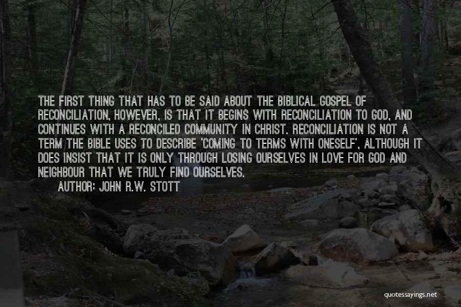 Losing Bible Quotes By John R.W. Stott