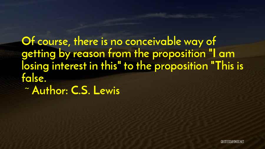 Losing Interest Quotes By C.S. Lewis