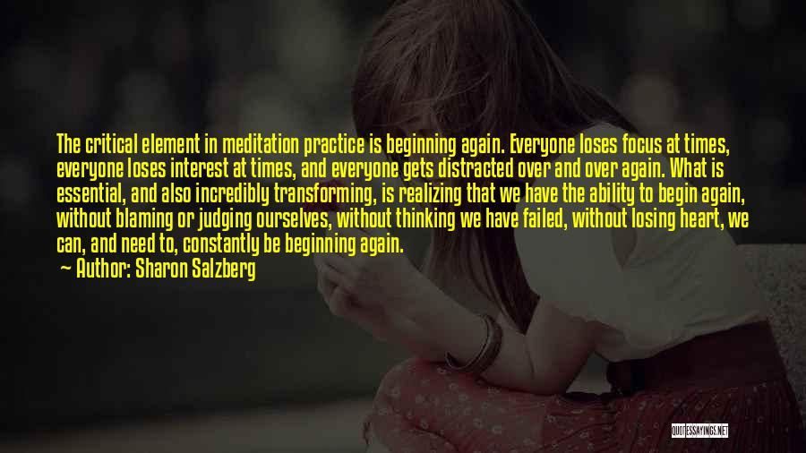 Losing Interest Quotes By Sharon Salzberg