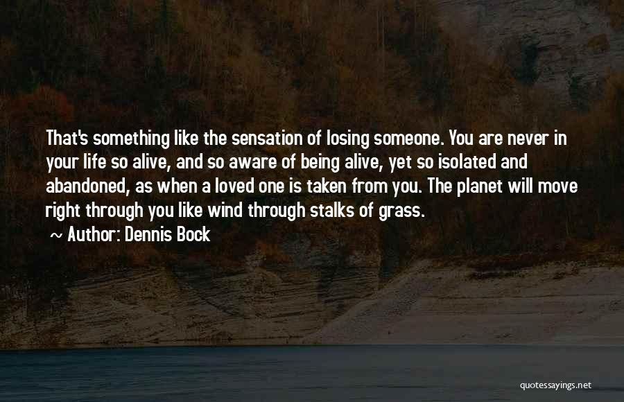 Losing Loved You Never Had Quotes By Dennis Bock
