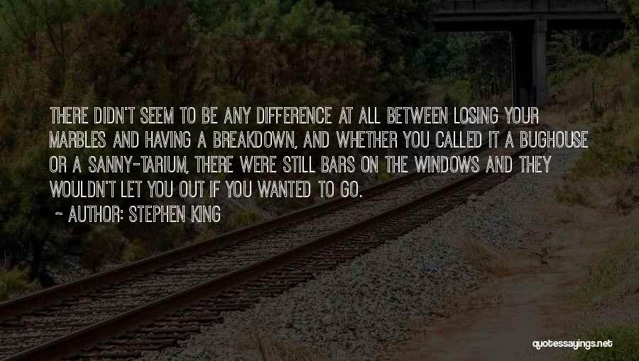Losing My Marbles Quotes By Stephen King