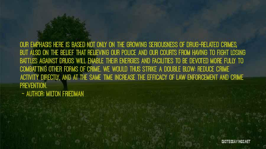 Losing Someone To Drugs Quotes By Milton Friedman