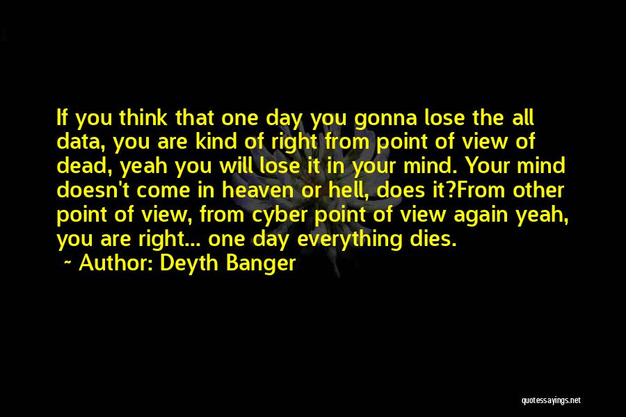Losing You Again Quotes By Deyth Banger