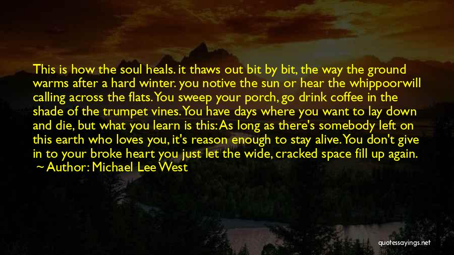 Loss And Healing Quotes By Michael Lee West