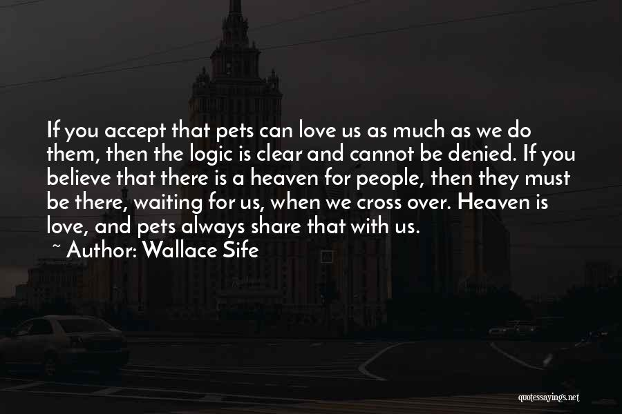 Loss Of A Pet Quotes By Wallace Sife