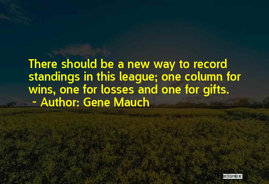 Losses In Sports Quotes By Gene Mauch