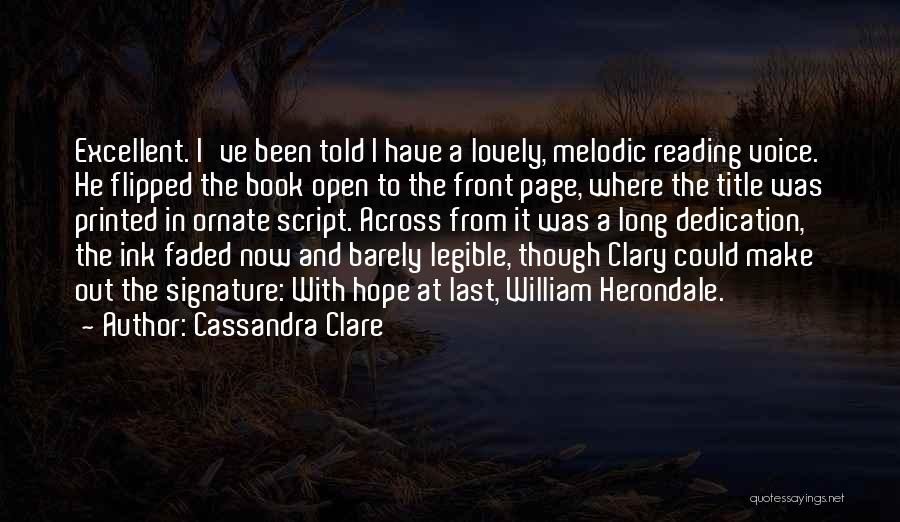 Lost Hope Quotes By Cassandra Clare