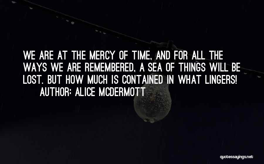 Lost In Time Quotes By Alice McDermott