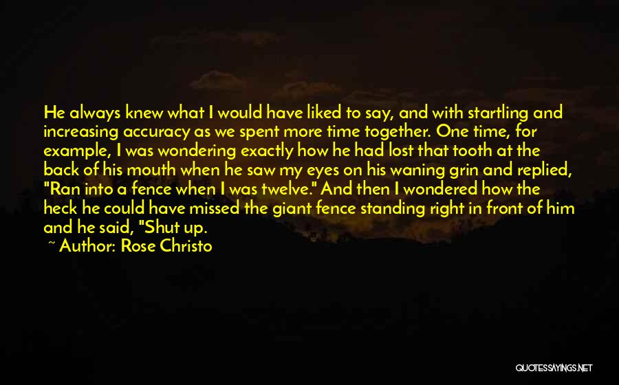 Lost In Time Quotes By Rose Christo