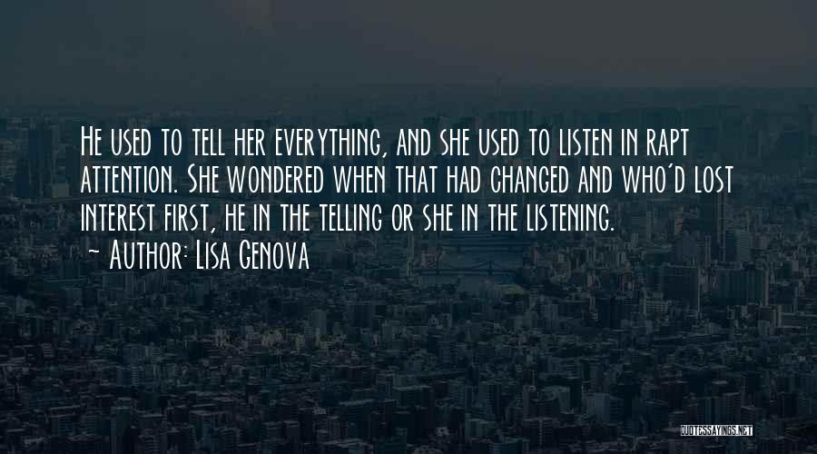 Lost Interest In Everything Quotes By Lisa Genova