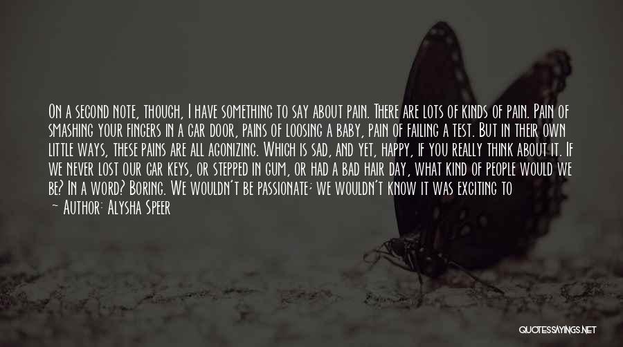Lost Keys Quotes By Alysha Speer