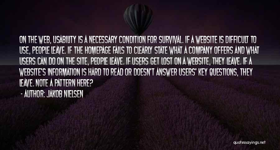 Lost Keys Quotes By Jakob Nielsen