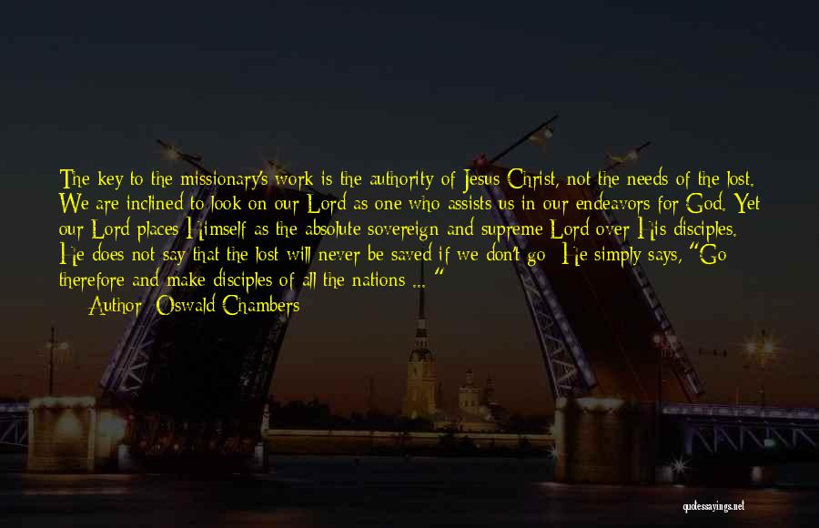 Lost Keys Quotes By Oswald Chambers