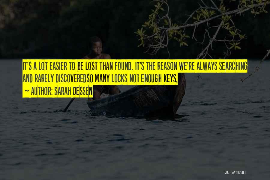 Lost Keys Quotes By Sarah Dessen