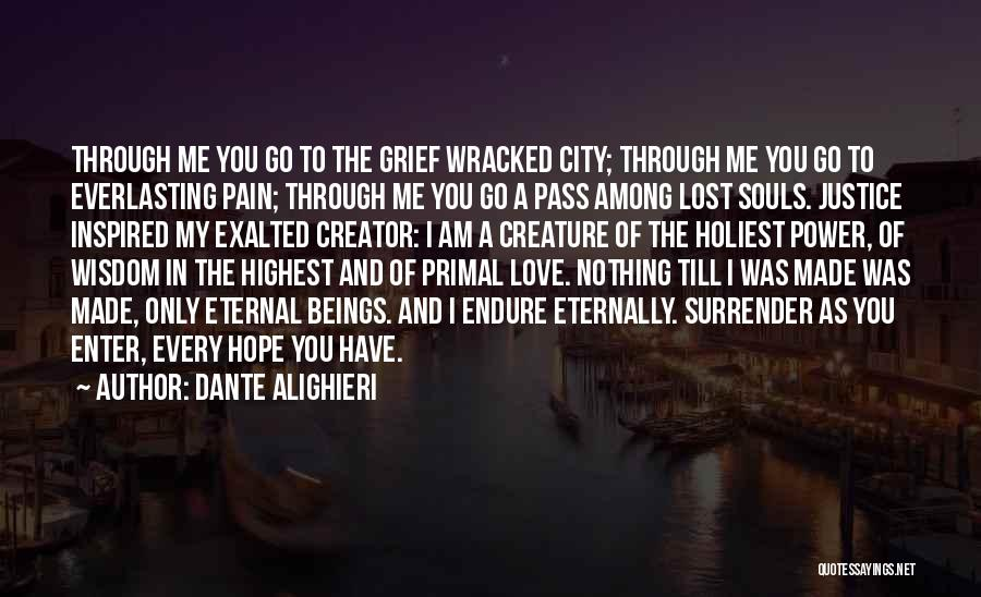Lost Love Famous Quotes By Dante Alighieri