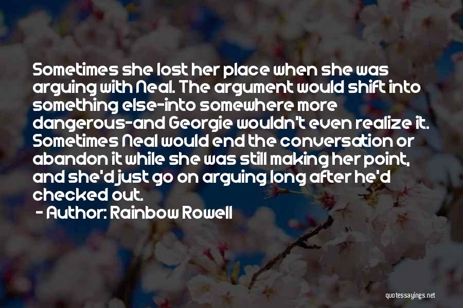 Lost Somewhere Quotes By Rainbow Rowell