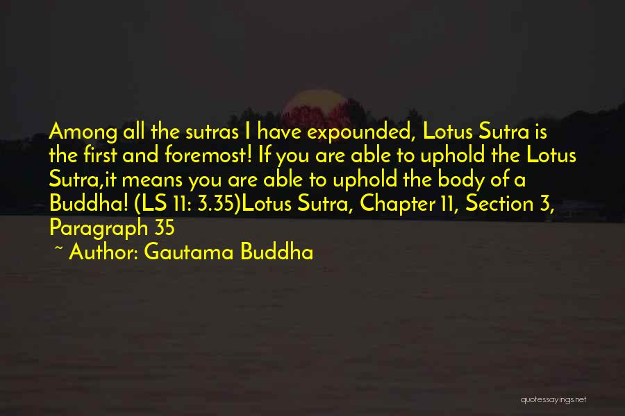 Lotus Sutra Quotes By Gautama Buddha