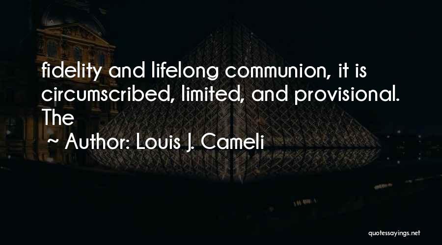 Louis J. Cameli Quotes 1266759