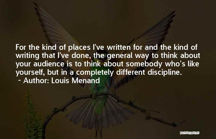 Louis Menand Quotes 840090