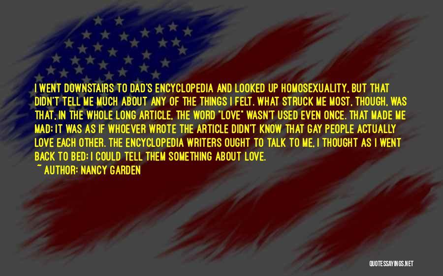 Love Actually Quotes By Nancy Garden