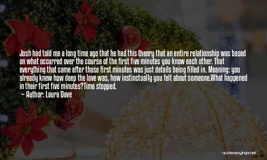 Love After A Long Time Quotes By Laura Dave