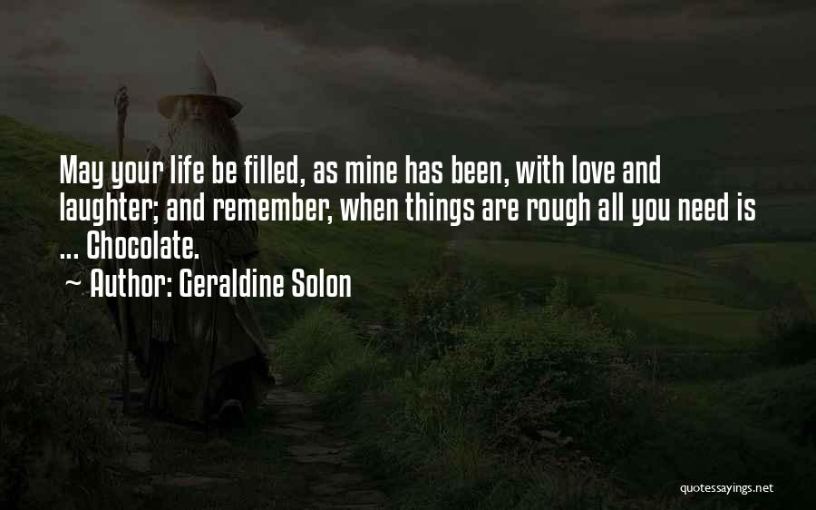 Love And Hard Times Quotes By Geraldine Solon