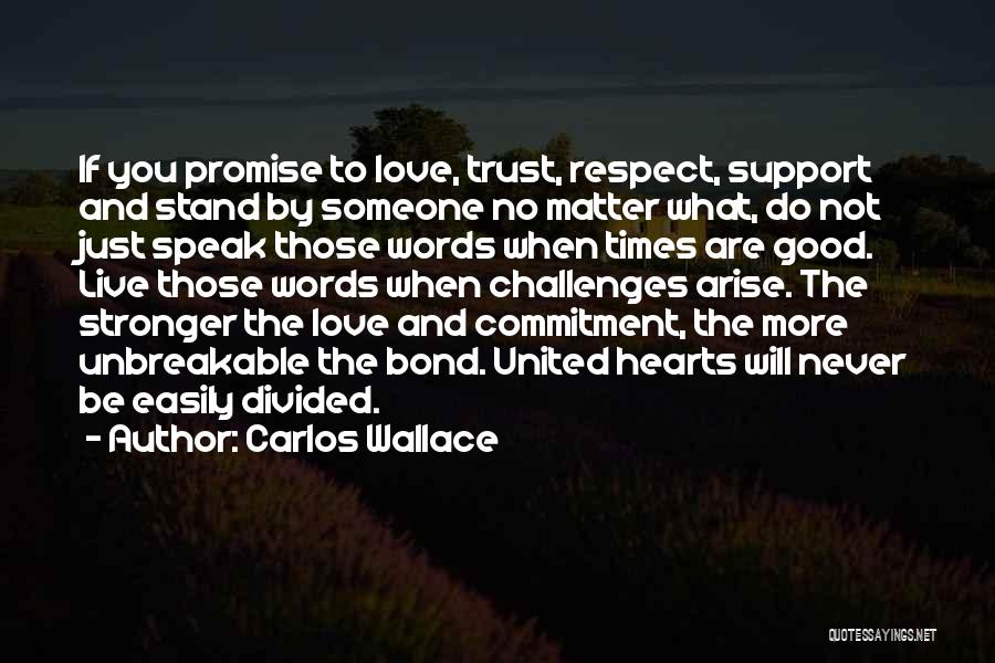 Love And Its Challenges Quotes By Carlos Wallace