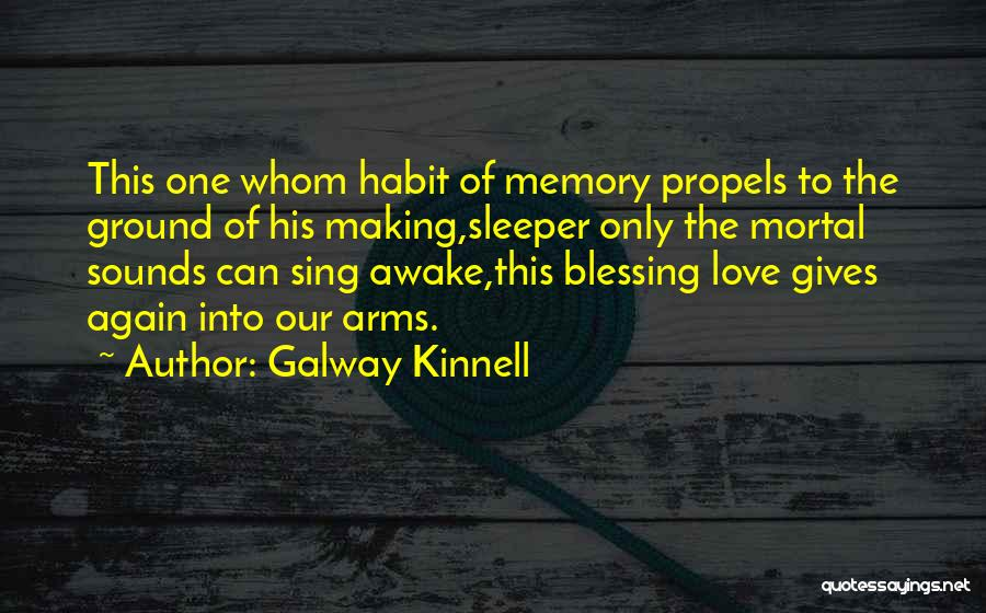 Love And Making Memories Quotes By Galway Kinnell