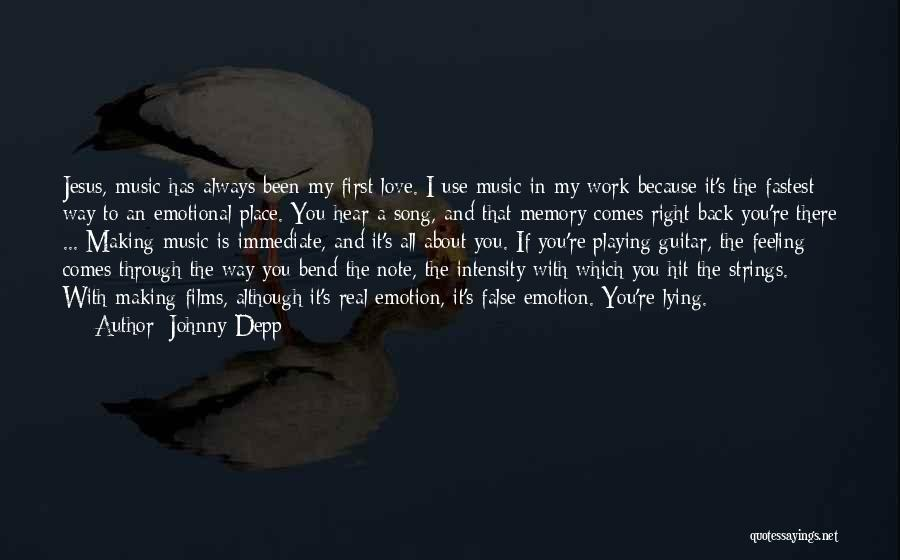 Love And Making Memories Quotes By Johnny Depp