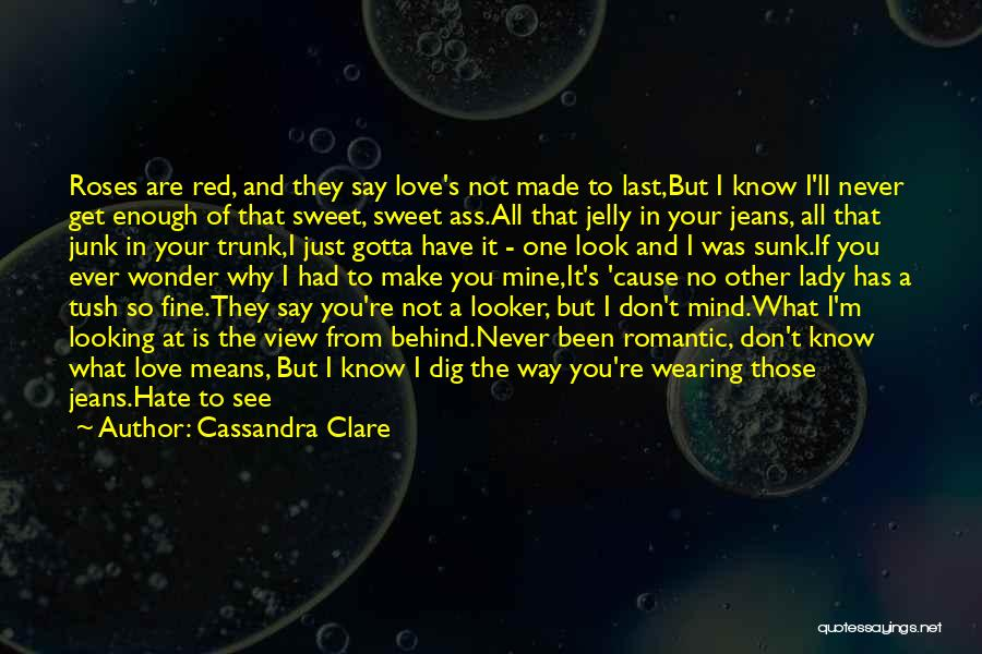 Love And Red Roses Quotes By Cassandra Clare