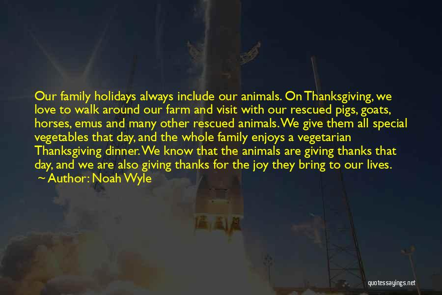 Love And Thanksgiving Quotes By Noah Wyle