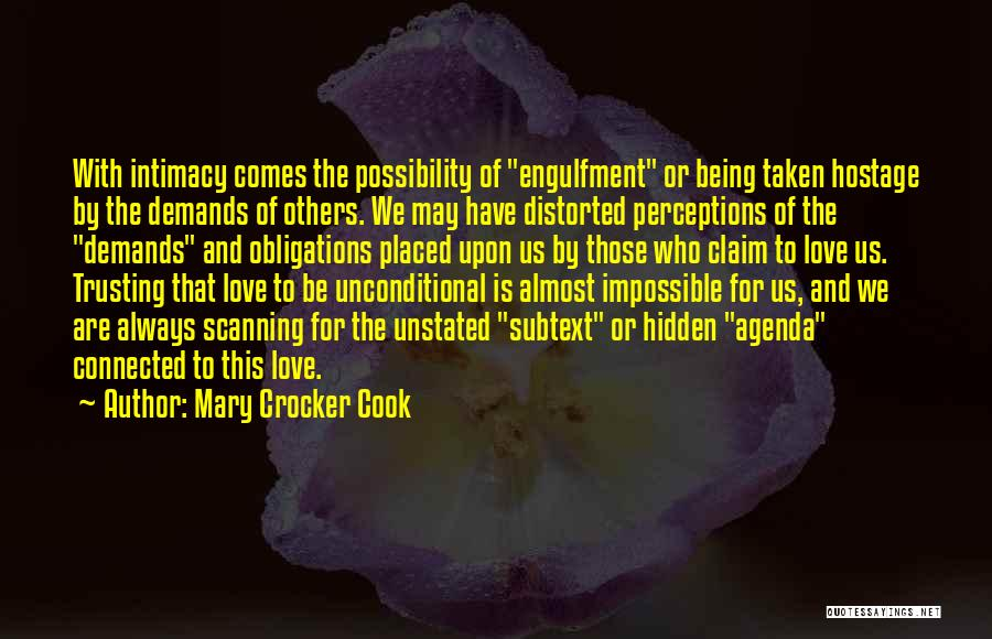 Love And Trusting Someone Quotes By Mary Crocker Cook