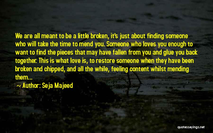 Love Back Together Quotes By Seja Majeed